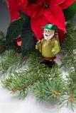 Smoker. German incense smoker and Christmas flower Stock Image