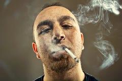 Smoker Man Portrait Stock Image