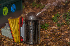 Smoker ready for work with bees Royalty Free Stock Photo