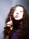 Smoker woman Royalty Free Stock Photo