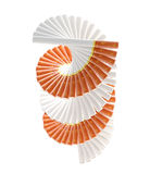 Smokers way: radial staircase made of cigarettes Royalty Free Stock Photography