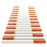 Smokers way: staircase made of cigarettes Royalty Free Stock Photos