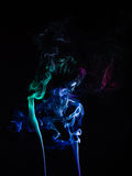 Smokes on black background. Smokes color on black background Royalty Free Stock Photography
