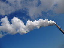 Smokes of a chimney. From a coal power plant Stock Photography