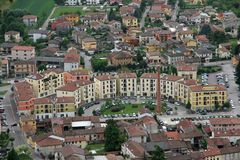 Free Smokestack And Homes And Residences Montecchio Maggiore And The Royalty Free Stock Photography - 30838167