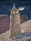Smokestack in cold weather. With some smoke Royalty Free Stock Photos