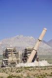 Smokestack Demolition. Smokestack collapses during demolition of Laughlin, Nevada power plant royalty free stock photos