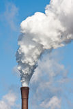 Smokestack with heavy pollution Stock Photo