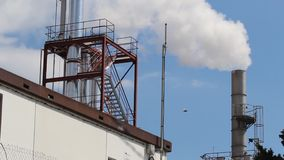Smokestack of industrial building stock footage