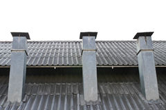 Smokestack no telhado fotografia de stock royalty free