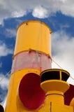 Smokestack on an old steam ship Stock Photos