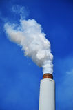 Smokestack from a steel mill Royalty Free Stock Images