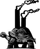 Smokestack Turtle Royalty Free Stock Photo