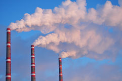 Smokestacks Royalty Free Stock Photo