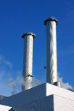 Smokestacks. At powerhouse in munich Stock Photo
