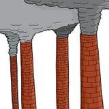 Smokestacks Over White stock illustration