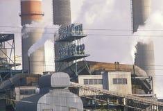 Smokestacks przy Użyteczności Denwerską Prowizją zdjęcie stock