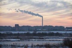 Smokestacks zanieczyszczać Fotografia Stock