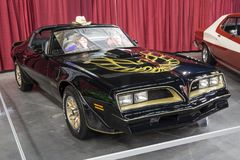 Smokey and the bandit car. Picture of pontiac trans am smokey and the bandit movie car in display during the autorama montreal september 16-17 2017 royalty free stock image