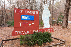 Smokey the Bear Forest Fire Prevention Sign Stock Image