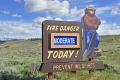 Smokey Bear sign posting in the mountains Stock Photo