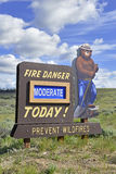 Smokey Bear sign posting in the mountains Stock Photos