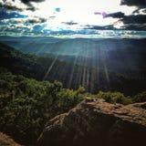 Smokey Berge Stockfoto