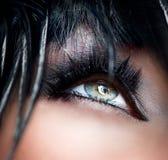 Smokey Eyes состав Стоковые Изображения
