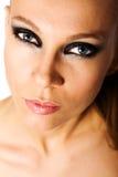 Smokey eyes. Woman with smokey eyes makeup Royalty Free Stock Image