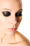 Smokey eyes. Beautiful woman with smokey eyes portrait Royalty Free Stock Photo