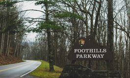 Smokey gór Parkway obrazy royalty free