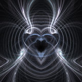 Smokey heart. Rendering of abstract smokey metal heart Royalty Free Stock Photo
