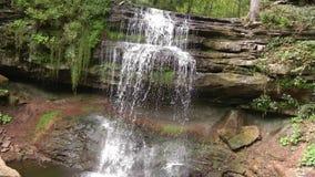 Smokey Hollow Falls, en Ontario, Canadá almacen de metraje de vídeo