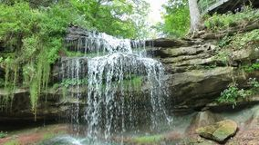 Smokey Hollow Falls, en Ontario, Canadá almacen de video