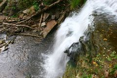 Smokey Hollow Waterfalls fotos de archivo