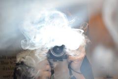 Smokey-Kamera im Spiegel Stockfoto