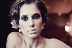 Smokey makeup girl Stock Photos