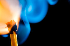 Smokey match Stock Photography