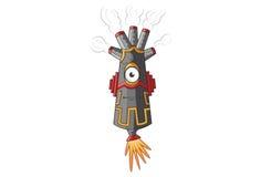 Smokey Monster Astonished. Vector illustration.  on white Background Stock Photos
