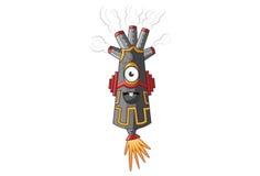 Smokey Monster Happy illustrazione di stock