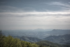Smokey Mountain Blue Ridge hills and valley. Royalty Free Stock Photos