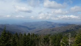Smokey mountain. Hike up to observation area stock images