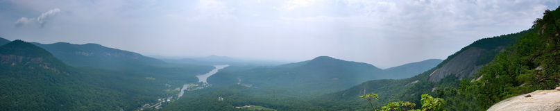 Smokey Mountain Panoramic. Panoramic in the Great Smokey Mountain National Park in the United States Royalty Free Stock Image