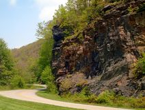 Smokey Mountain Parkway Cliff imagens de stock