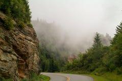 Smokey Mountain Parkway Cliff Fotos de Stock