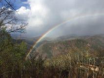 Smokey Mountain Rainbow royaltyfri foto