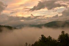 Smokey Mountain Sunset photo libre de droits