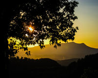 Smokey mountain sunset Royalty Free Stock Image