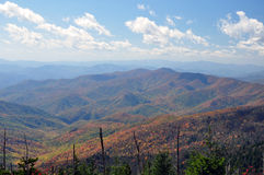Smokey Mountains. A view of the Smokey Mountains from Clingman's Dome Stock Photography