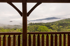 Smokey Mountains Cabin View Royalty Free Stock Photo